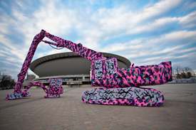 Olek Yarn Bombing Heavy Machinery
