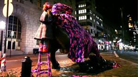 Olek, Wall st Bull Work in Progress