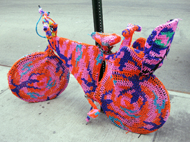 Olek Yarn Bomber New York
