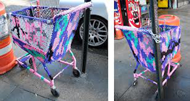 Olek Yarn Bomber Shoping Trolley