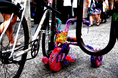 Olek, Yarn Bombing a Tricycle