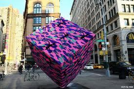 Olek Yarn Bomber - Cube