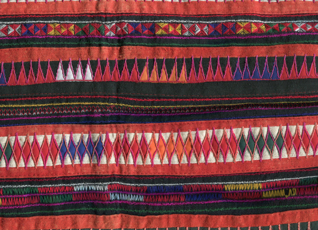 Akha Tribe Jacket Detail