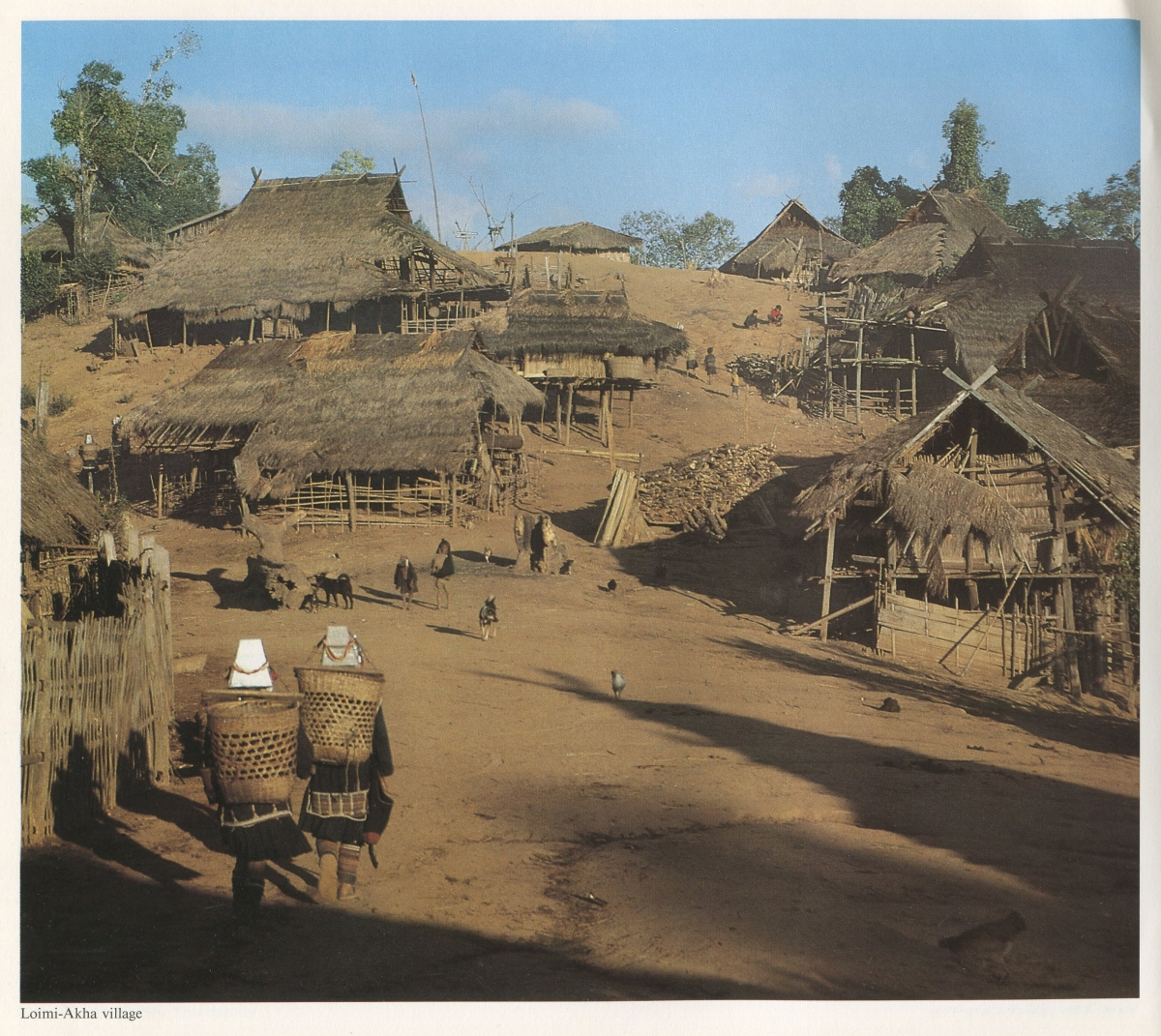 View of Akha Village Nth Thailand