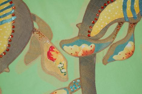 Weedy Sea Dragon Fin - Detail